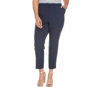 Vince Camuto High-Rise Ankle Pants Night Navy 16W
